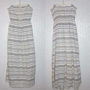 Gap Striped Nautical Strapless Maxi Dress